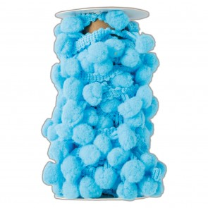 Pom Pom Trim (3m) - Ice Blue