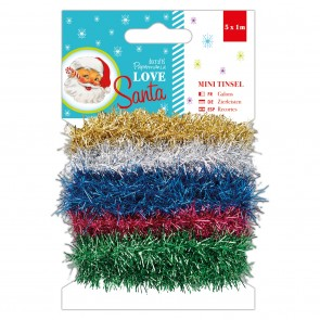 Mini Tinsel (5x1M) - Love Santa