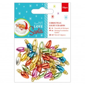 Christmas Light Charms (32pcs) - Love Santa