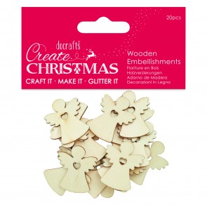 Wooden Embellishment (20pcs) - Angels - Create Christmas