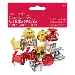Traditional Bells (12pcs) - Create Christmas