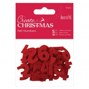 Advent Calendar Numbers (41pcs) - Red