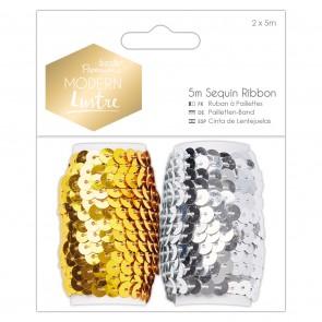 5m Sequin Ribbon (2pk) - Modern Lustre