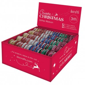 Glitter Ribbon Assortment Dispenser (180pcs)