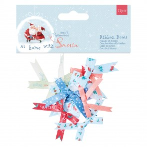 Ribbon Bows (12pcs) - At Home with Santa
