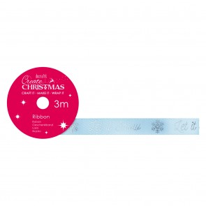 Satin Christmas Ribbon (3m) - Let It Snow - Create Christmas