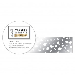 Craft Tape (3m) - Elements Metallics - White & Silver