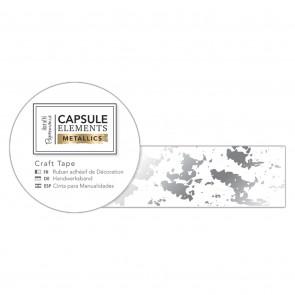 Craft Tape (3m) - Elements Metallics - Silver Texture