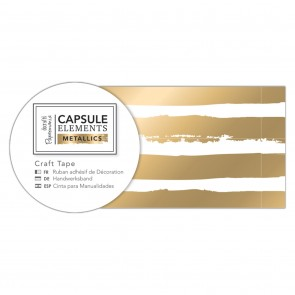 Craft Tape (3m) - Elements Metallics - Gold Stripe