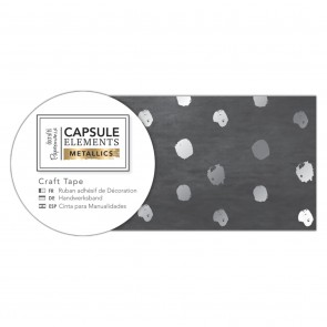 Craft Tape (3m) - Elements Metallics - Silver Spot