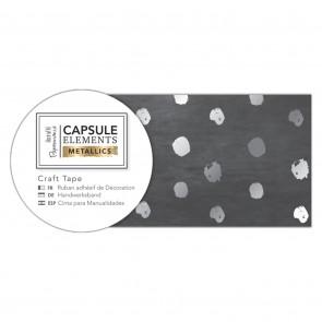 Craft Tape (3m) - Elements Metallics - Silver Spot