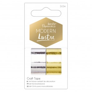 5m Metallic Craft Tapes (2pk) - Modern Lustre