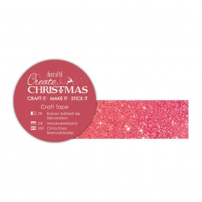 Craft Tape (5m) - Red Glitter