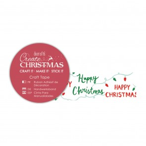 Craft Tape (5m) - Happy Christmas