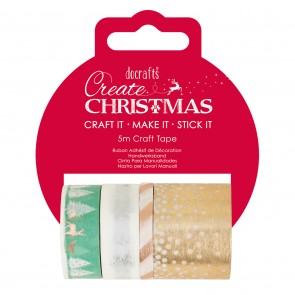 Pastel Craft Tape Set (4x5m) - Create Christmas