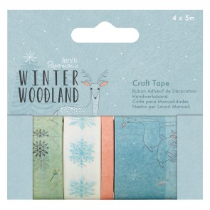 Craft Tape (4 x 5m) - Winter Woodland