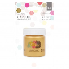 Fabric Paint - Capsule - Geometric Neon - Gold