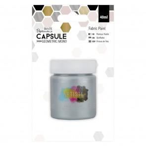 Fabric Paint - Capsule -  Geometric Mono - Silver