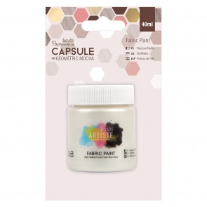 Fabric Paint - Capsule - Geometric Mocha - Pearlised White