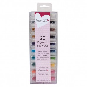 Mini Ink Pads Pigment (20pk) - Assorted Colours