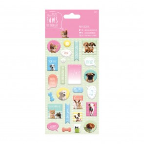 Puffy  Stickers (27pcs) - Paws for Thought