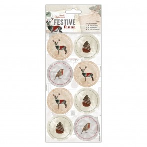 Sticker Sheet (16pcs) - Festive Fauna