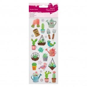 Glitter  Stickers - Cactus Garden
