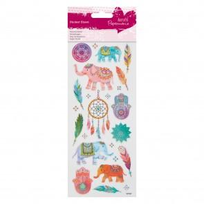 Glitter  Stickers - Indian Elephants