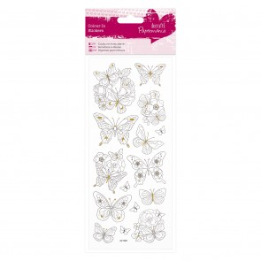 Colour In Glitter Stickers - Butterflies