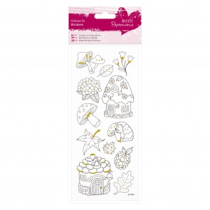 Colour In Glitter Stickers - Toadstools