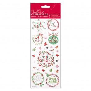 Christmas Stickers - Folk Sentiments