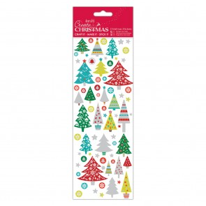 Christmas Stickers - Folk Trees