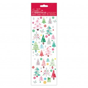 Christmas Stickers - Colourful Trees