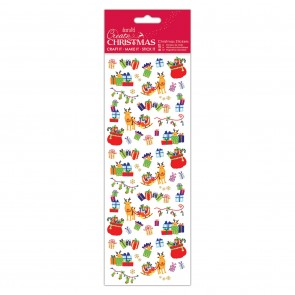 Christmas Stickers - Reindeer Sleigh