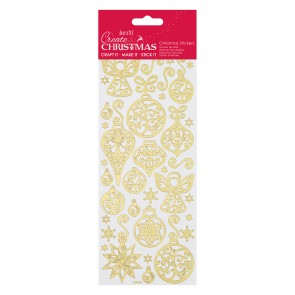 Gold Outline Stickers - Angels