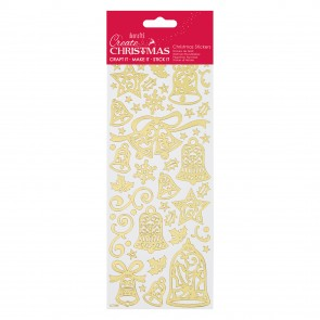 Gold Outline Stickers - Bells