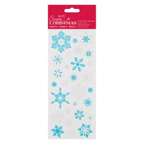 Shiny Outline Stickers - Snowflakes