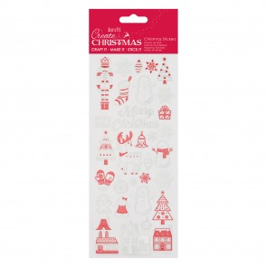 Shiny Outline Stickers - Festive Houses