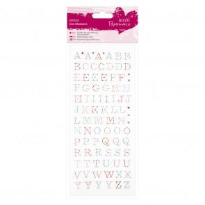 Glitter Dot Stickers - Upper Case Alphabet