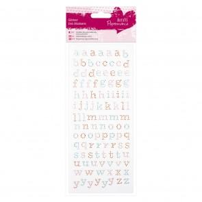 Glitter Dot Stickers - Lower Case Alphabet
