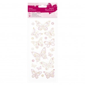 Glitter Dot Stickers - Butterflies