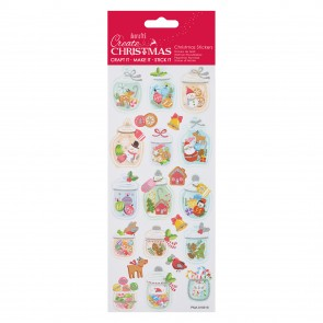 Glitter Stickers - Christmas Jars