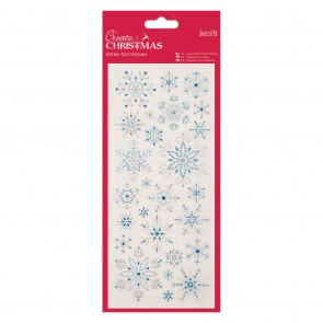Glitter Dot Stickers - Snowflakes