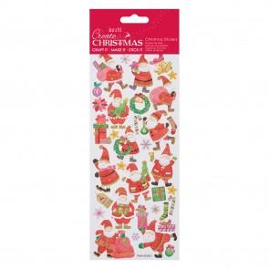 Glitter Stickers - Balancing Santa
