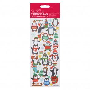 Glitter Stickers - Christmas Penguin