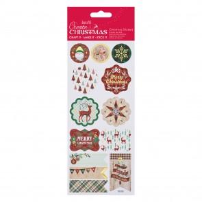 Foil Stickers - Tartan Christmas