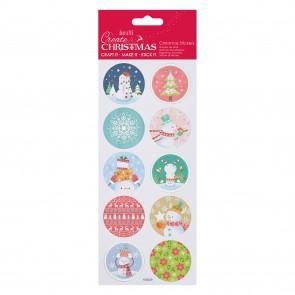 Foil Stickers - Pastel Snowman