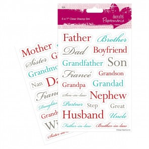 "5 x 7"" Clear Stamps (2pk) - Relations"