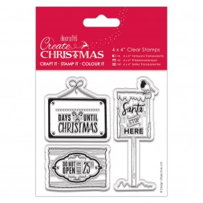 "4x4"" Clear Stamp - Christmas Signs"