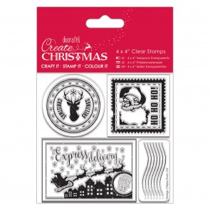 "4x4"" Clear Stamp - Postage Marks"
